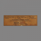 Alhambra Chime Works Label