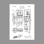 Original Patent Drawing for Anderson Westminster Tubular Door Chime Cam-Driven Westminster Door Chime