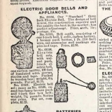 Sears First Doorbell 1896 Summer Catalog