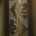 DeValera Long Bell Door Chime Engraved Bell Detail