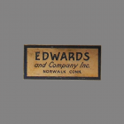 Edwards Door Chime Label
