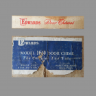 Edwards Lyre Long Bell Door Chime Label and box