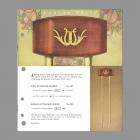 Edwards Lyre Long Bell Door Chime Model 524, 525 Catalog Entry