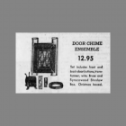 Liberty Bell Resonator Doorbell Syrocco Shadow Box Montgomery Ward Adbertisment 1954