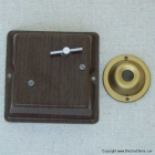 Visible parts of wind-up music box door chime
