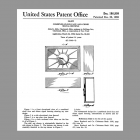 NuTone L60 Starburst Clock Chime Design Patent.