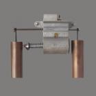 C. Vincent Mell-O-Chime Vintage Tubular Door Chime Mechanism ~1935