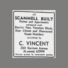 C. Vincent supplied door chimes for Scammell Built Homes