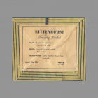 Paper label for Rittenhouse Beverly 2nd Generation