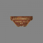 A.E. Rittenhouse Door Chime Early Builders Plate