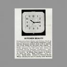 Rittenhouse Kitchen Beauty Door Chime Clock Catalog Entry