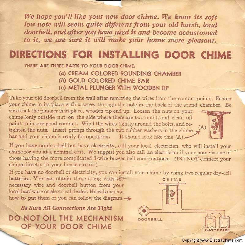wind up doorbell instructions