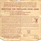 Vintage Door Chime Instructions Melody Maker