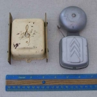 Small door chime compared to a typical doorbell