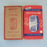 Vintage Snapit Golden Tone doorbell boxes.
