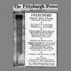 December 1932 Pittsburgh Press Telechime Advertisement
