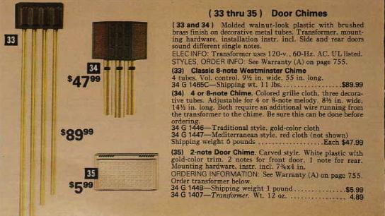 Sears concentrates on musical chimes in the 1970s