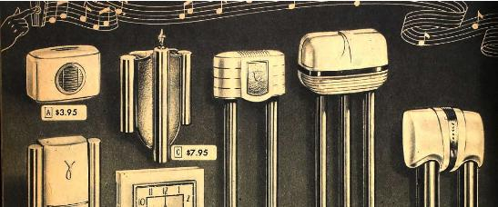 Sears Post War Doorbells Art Deco and Streamline styles
