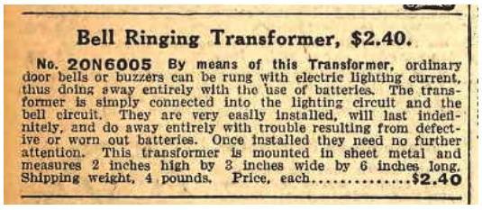 Sears First Transformer
