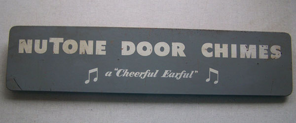 Nutone Cheerful Earful Store Display Sign 1950s