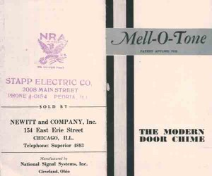 Mell-O-Tone Brochure 1933-1935